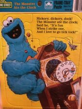 Frame Tray Puzzle Sesame Street The Monsters Ate The Clock
