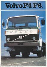 Volvo F4 F6 Prospekt 1981 8/81 schwedisch brochure broschyr brosjyre prospectus