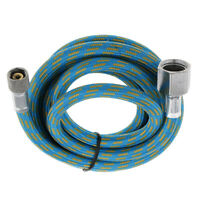 """Braided Airbrush Air Hose 1/8"""" to 1/4"""" Woven Pipe Adaptor Fits Most Brands"""