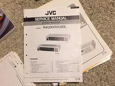 JVC Original Service Manual Factory Repair Schematic for Receiver Turntable Reel