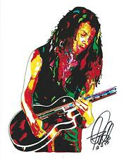 Kirk Hammett, Metallica, Lead Guitar, Heavy Metal Guitarist, 8.5x11 PRINT w/COA1