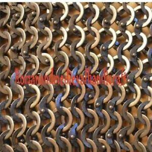 Chain Mail Sheet Flat Riveted Flat Washer Rings - SHEET Only 54cm x 54 cm