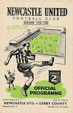 More details for newcastle united v derby county 1948/1949 - football programme