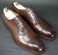 Handmade Men Brown Oxford brogue formal shoes, Men brown dress shoes, Mens shoes