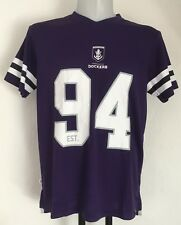 Fremantle Dockers Mesh V-Neck Poly Tee By Majestic Size Men'S Large Brand New