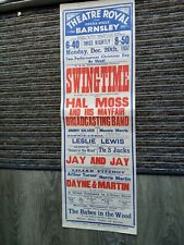More details for music hall variety theatre poster 1937,barnsley theatre royal,hal moss,mannie mo