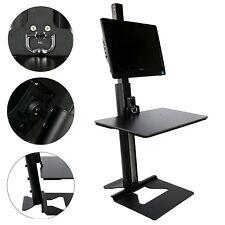 Computer Monitor Stand Mount Steady Desk Workstation Height Adjustable Black US