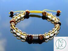 Gemini Citrine Tigers Eye Birthstone Bracelet 7-8'' Macrame Healing Stone Reiki