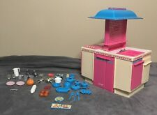 Vintage Barbie Dream Kitchen with food, utensils, cookware and more - 1984