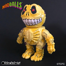 Yamakichiya MADBALLS SOFUBI COIN BANK Skull Face Original Color F/S JP Yellow