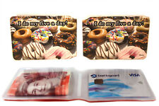 Donuts Bus Pass Credit Travel Rail Slim ID Holder Wallet for Oyster Card