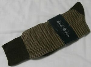 Brooks Brothers Brown Men's Dress One Size Socks - Italy