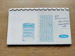 FORD TRACTORS 1000 SERIES SALESMAN'S POCKET GUIDE RARE IN SUPERB CONDITION VG