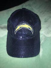 ee88601ec962b1 Victoria's Secret PINK New Era NFL Chargers Navy Blue Bling Sequin Hat O/S  New