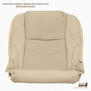Driver Bottom Perforated Leather Seat Cover Tan Fits 2008 Lexus IS250 IS350