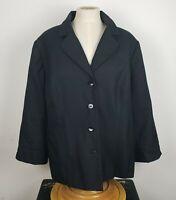 Dress Barn Women's Plus Size 18W Black Lined Blazer Jacket 2X Button Front