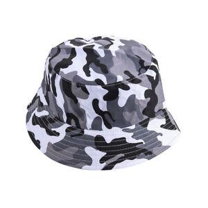 Men Women Cotton Camouflage Bush Beanie Bucket Camo Sun Fisher Unisex Summer Hat