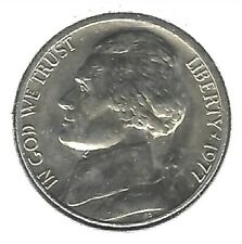 1977 Philadelphia Uncirculated Jefferson Nickel Five Cent Coin!