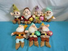 "Disney Snow White Seven Dwarfs 7"" Plush Complete Set"