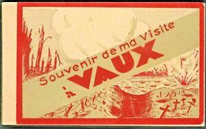 WW1-BATTLE OF VERDUN-FORT DE VAUX-BOOKLET 15 POSTCARDS-EXCELLENT CONDITIONS