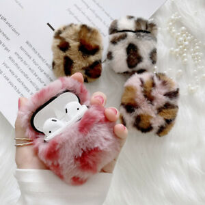 For Apple AirPods Pro 3 1&2 Earphone Protective Case Soft Leopard Furry  Cover