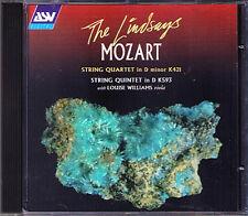 THE LINDSAYS MOZART Streichquartett No.15 Quintet No.5 LINDSAY QUARTET CD ASV