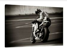"""Marco Simoncelli LARGE 30"""" X 20"""" VERY Rare Moto GP Honda Framed Picture Canvas"""