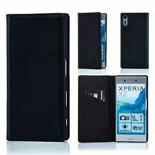 32nd Classic Series - Real Leather Book Wallet Case Cover for Sony Xperia XZ Black Sny.xz.32ndclassic-black