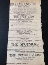 69-5 Ephemera 1963 Advert Dreamland Margate The Spotnicks Terry Young Six