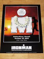 IRONMAN 2003 HAWAII POSTER ORIGINAL - TRIATHLON NEU / ORIGINAL VINTAGE in MINT
