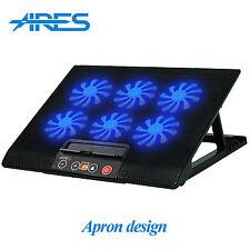 """Ares N8 Refrigerador Portátil Soporte Para 15.4"""" 15.6"""" 17"""" Pulgadas Negro ventiladores de refrigeración Pad 6"""