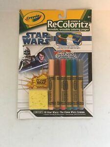 Star Wars Crayola ReColoritz Reusable Erasable Coloring Pages w/Washable Markers