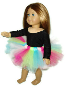 Colorful Tutu 18 inch Doll Clothes fits American Girl dolls Ballet Dance