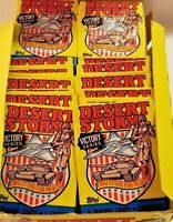 1991 Topps Desert Storm Trading Cards & Stickers 36 Sealed 8 per Pack  🔥