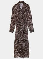 ZARA WOMAN NWT SALE! LEOPARD ANIMAL PRINT DRESS SIZE S REF: 8633/118