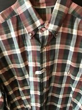 Men's Brooks Brothers M Brown Stripe Shirt Button Down Was $135.00