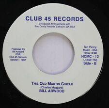Rare Country Nm! 45 Bill Arwood - This Old Martin Guitar / Honky Tonkin' In Swed