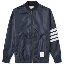 THOM BROWNE SS19 4-Bar Oversized Ripstop Bomber Jacket | Navy Size 1 | RRP £1300