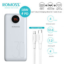 Romoss 26800mAh PowerBank 18W USB-C PD Rapida Carica Batteria Esterna 3USB QC3.0