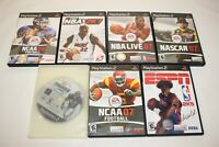 Lot (7) Playstation 2 PS2 Sports NCAA MADDEN ESPN Games - Good Condition
