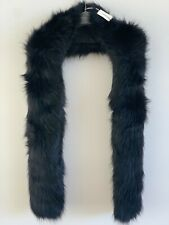Country Road Faux Fur Scarf - Black CR Love