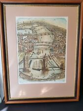 Glynn Thomas Artist's Proof Tower Bridge Large Copperplate Etching