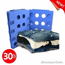 Plastic Adjustable Fold Flat Board Laundry Easy Quick New Clothes T Shirt Closet