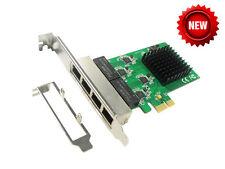 IOCrest PCI-E to 4 Port Gigabit Ethernet Network Card NIC Realtek RTL-8111