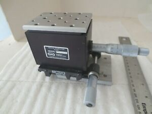 Newport Series 416 Vertical Translation Stage  W/ Newport Linear Stage Model 420