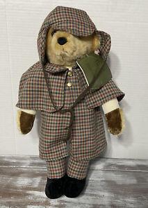 HARRODS by Merrythought Ironbridge Shops! Sherlock Holmes Mohair Teddy Bear