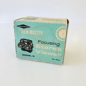 SAWYERS VIEW MASTER MODEL D FOCUSING STEREO VIEWER No. 2011 BAKELITE *READ*