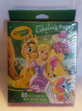 Crayola Mini Coloring Pages - Disney Palace Pets - 80 Mini Pgs + 6 Mini Markers