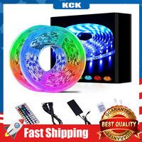 32.8ft  LED Strip Lights 44 Keys IR Remote Flexible Color Changing 5050 RGB