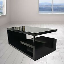 Elegance DESIGNER Square Coffee Table Black High Gloss Finish Delivery